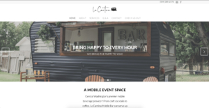 La Cantina Mobile Bar's website