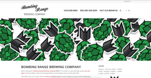 Bombing Range Brewing Company's website