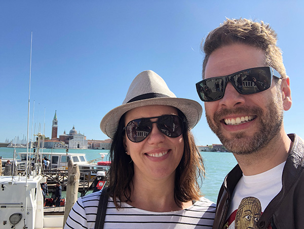 Chris Collier and his wife traveling in Italy.