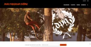 Devils Playground Clothing's website