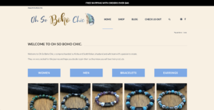 Oh So Boho Chic Studio's website
