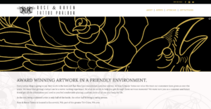 Rose & Raven Tattoo Parlour's website