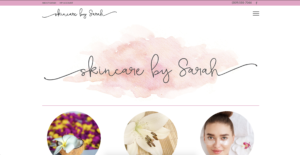 Skincare by Sarah's website